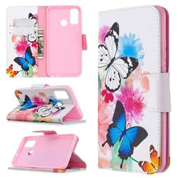Vivid Flying Butterflies Leather Wallet Case for Huawei P Smart (2020)