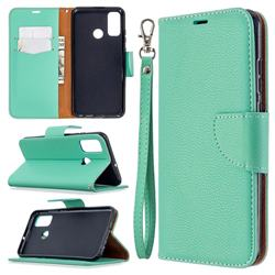 Classic Luxury Litchi Leather Phone Wallet Case for Huawei P Smart (2020) - Green