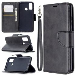 Classic Sheepskin PU Leather Phone Wallet Case for Huawei P Smart (2020) - Black