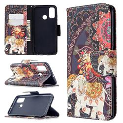 Totem Flower Elephant Leather Wallet Case for Huawei P Smart (2020)