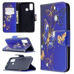 Purple Butterfly Leather Wallet Case for Huawei P Smart (2020)