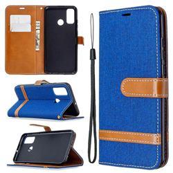 Jeans Cowboy Denim Leather Wallet Case for Huawei P Smart (2020) - Sapphire