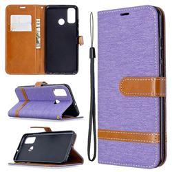 Jeans Cowboy Denim Leather Wallet Case for Huawei P Smart (2020) - Purple