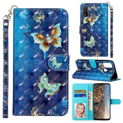 Rankine Butterfly 3D Leather Phone Holster Wallet Case for Huawei P Smart (2020)