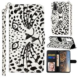 Leopard Panther 3D Leather Phone Holster Wallet Case for Huawei P Smart (2020)