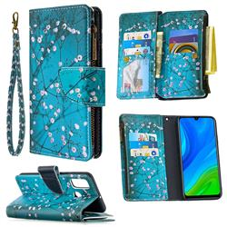 Blue Plum Binfen Color BF03 Retro Zipper Leather Wallet Phone Case for Huawei P Smart (2020)