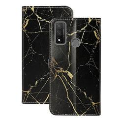 Black Gold Marble PU Leather Wallet Case for Huawei P Smart (2020)