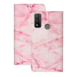 Pink Marble PU Leather Wallet Case for Huawei P Smart (2020)