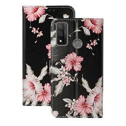 Azalea Flower PU Leather Wallet Case for Huawei P Smart (2020)