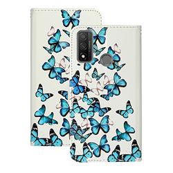 Blue Vivid Butterflies PU Leather Wallet Case for Huawei P Smart (2020)