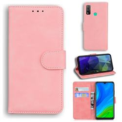 Retro Classic Skin Feel Leather Wallet Phone Case for Huawei P Smart (2020) - Pink