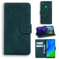 Retro Classic Skin Feel Leather Wallet Phone Case for Huawei P Smart (2020) - Green