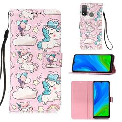 Angel Pony 3D Painted Leather Wallet Case for Huawei P Smart (2020)