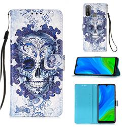 Cloud Kito 3D Painted Leather Wallet Case for Huawei P Smart (2020)