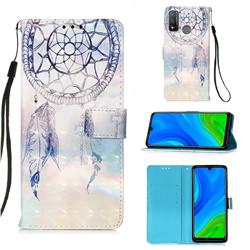 Fantasy Campanula 3D Painted Leather Wallet Case for Huawei P Smart (2020)