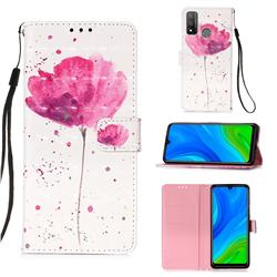 Watercolor 3D Painted Leather Wallet Case for Huawei P Smart (2020)