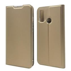 Ultra Slim Card Magnetic Automatic Suction Leather Wallet Case for Huawei P Smart (2020) - Champagne