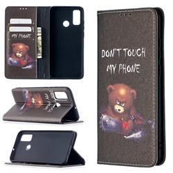 Chainsaw Bear Slim Magnetic Attraction Wallet Flip Cover for Huawei P Smart (2020)