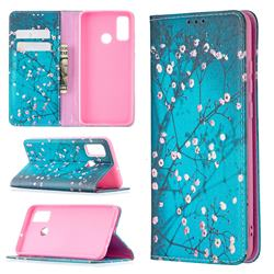 Plum Blossom Slim Magnetic Attraction Wallet Flip Cover for Huawei P Smart (2020)