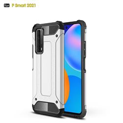 King Kong Armor Premium Shockproof Dual Layer Rugged Hard Cover for Huawei P smart 2021 / Y7a - White