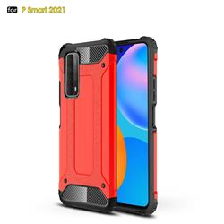 King Kong Armor Premium Shockproof Dual Layer Rugged Hard Cover for Huawei P smart 2021 / Y7a - Big Red