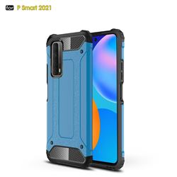 King Kong Armor Premium Shockproof Dual Layer Rugged Hard Cover for Huawei P smart 2021 / Y7a - Sky Blue