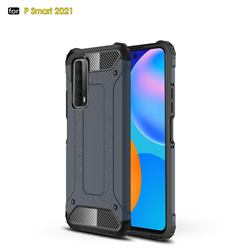 King Kong Armor Premium Shockproof Dual Layer Rugged Hard Cover for Huawei P smart 2021 / Y7a - Navy