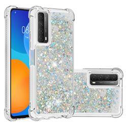 Dynamic Liquid Glitter Sand Quicksand Star TPU Case for Huawei P smart 2021 / Y7a - Silver