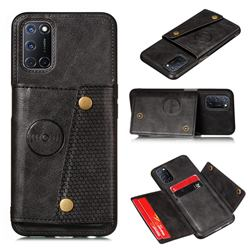 Retro Multifunction Card Slots Stand Leather Coated Phone Back Cover for Huawei P smart 2021 / Y7a - Black