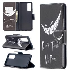 Crooked Grin Leather Wallet Case for Huawei P smart 2021 / Y7a