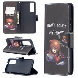 Chainsaw Bear Leather Wallet Case for Huawei P smart 2021 / Y7a