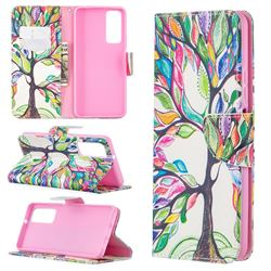 The Tree of Life Leather Wallet Case for Huawei P smart 2021 / Y7a