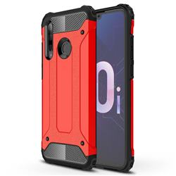 King Kong Armor Premium Shockproof Dual Layer Rugged Hard Cover for Huawei P Smart+ (2019) - Big Red