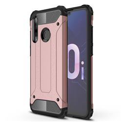 King Kong Armor Premium Shockproof Dual Layer Rugged Hard Cover for Huawei P Smart+ (2019) - Rose Gold