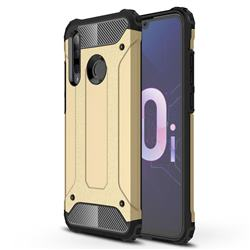 King Kong Armor Premium Shockproof Dual Layer Rugged Hard Cover for Huawei P Smart+ (2019) - Champagne Gold