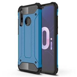King Kong Armor Premium Shockproof Dual Layer Rugged Hard Cover for Huawei P Smart+ (2019) - Sky Blue