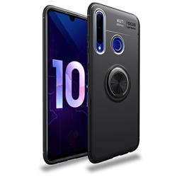 Auto Focus Invisible Ring Holder Soft Phone Case for Huawei P Smart+ (2019) - Black