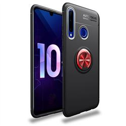 Auto Focus Invisible Ring Holder Soft Phone Case for Huawei P Smart+ (2019) - Black Red
