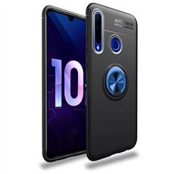 Auto Focus Invisible Ring Holder Soft Phone Case for Huawei P Smart+ (2019) - Black Blue