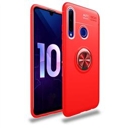Auto Focus Invisible Ring Holder Soft Phone Case for Huawei P Smart+ (2019) - Red