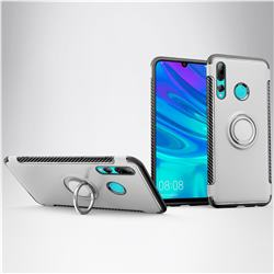 Armor Anti Drop Carbon PC + Silicon Invisible Ring Holder Phone Case for Huawei P Smart+ (2019) - Silver