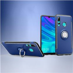 Armor Anti Drop Carbon PC + Silicon Invisible Ring Holder Phone Case for Huawei P Smart+ (2019) - Sapphire