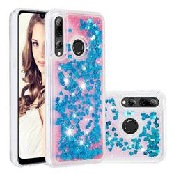 Dynamic Liquid Glitter Quicksand Sequins TPU Phone Case for Huawei P Smart+ (2019) - Blue