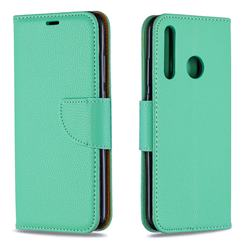 Classic Luxury Litchi Leather Phone Wallet Case for Huawei P Smart+ (2019) - Green