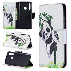 Bamboo Panda Leather Wallet Case for Huawei P Smart+ (2019)