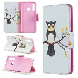 Owl on Tree Leather Wallet Case for Huawei P Smart+ (2019)
