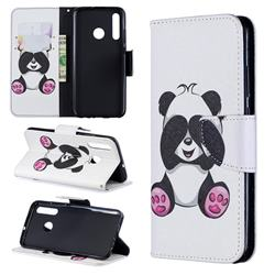 Lovely Panda Leather Wallet Case for Huawei P Smart+ (2019)