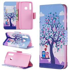 Tree and Owls Leather Wallet Case for Huawei P Smart+ (2019)