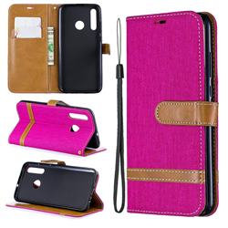 Jeans Cowboy Denim Leather Wallet Case for Huawei P Smart+ (2019) - Rose