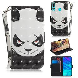 Angry Bear 3D Painted Leather Wallet Phone Case for Huawei P Smart+ (2019)